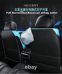 Deluxe Edition Full Seat Pu Siège D'auto En Cuir Couvre Coussins Noir/rouge +appuie-tête