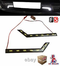 Drl Led Daytime Running Lights-paire 7 Led Lamps-waterproof Frd1
