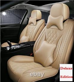 Ensemble Complet Leather5-sièges D'auto Seat Cover Coussins Oreiller Intérieur Accessoires