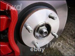 Espars De Roue En Alliage 5mm + Écrous Extra Longs Pour Ford (4x108 63.4 Pcd) Shim 2h8vs
