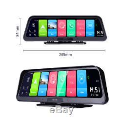 Fhd Dash Cam 10 Écran 140 ° Dvr Double Driving Recorder Wifi 4g Gps Adas