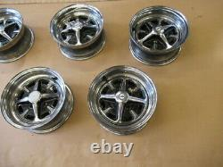Ford Cortina Mk2 1600e Roues Rostyle Chrome Ensemble De 5
