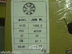 Ford Escort Capri Cortina 6x14 Jante Set Jbw Minilight Style Tous Argent
