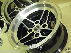 Ford Escort Capri Cortina 7.5x13 Roues En Alliage Set Jbw Rs4 Spoke Style 7 1/2 X 13