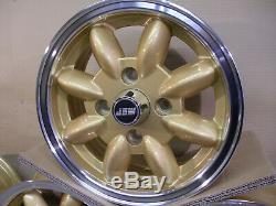 Ford Escort Cortina Capri 5.5x13 Roues En Alliage Set Jbw Minilight Style 13x5.5