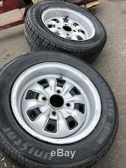 Ford Escort Mk1 Mexique Mk2 Steel Wheels 13 Capri Cortina Barn Trouver Rare Classique