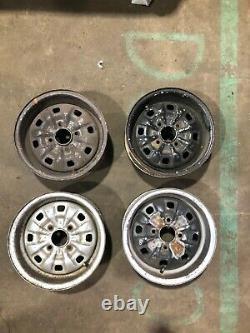 Ford Escort Mk2 Mk1 Mexique Rs2000 Cortina Gt Capri Deep Dish Steel Rims Set X4
