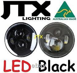 Jtx 7 Phares Led Noir No Halo Ford Cortina Mk1 Mk2 Escort