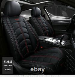 Luxe Pu Leather Four Seasons Full Car Seat Cover Pad Set Withheadrests