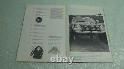 Mk1 Mk2 Escort Twin Cam Rs2000 Cortina Gt Lotus Livre De Sport Véritable Ford Rallye
