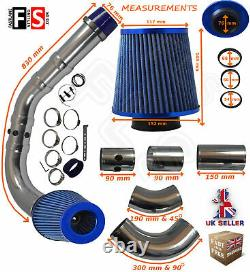 Performance Universelle Cold Air Feed Pipe Air Filter Kit Blue 2103bf-frd1