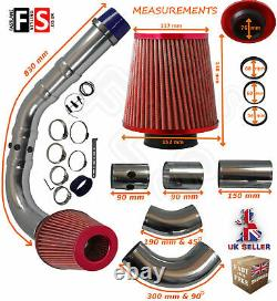 Performance Universelle Cold Air Feed Pipe Air Filter Kit Red 2103rf-frd1