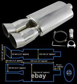 Performance Universelle En Acier Inoxydable Exhaust Backbox Yfx-0639-ford 1