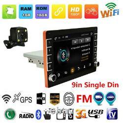 Quad-core 9in 1din Voiture Radio Stéréo Mp5 Player Gps Sat Nav Bluetooth+caméra Arrière