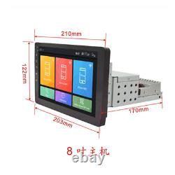 Réglable 8 1 Din Android 8.1 Car Stereo Radio Fm Mp5 Nav Gps Bt Wifi