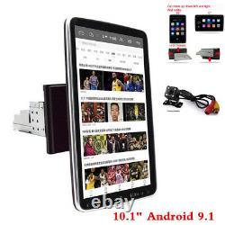 Single Din Car 10in Écran Tactile Stéréo Radio Gps Wifi Android 9.1 Avec Caméra