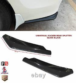 Universal Arrière Bumper Lip Extension Rocker Splitter Gloss Black-frd1