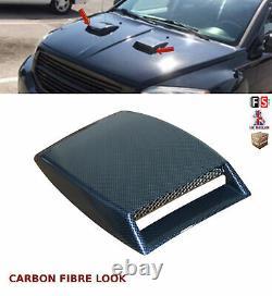 Universal Decorative Air Flow Intake Bonnet Vent Cover Hood Fibre De Carbone-frd1