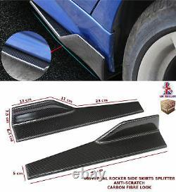 Universal Side Jupe Extension Blades Rocker Splitter 45cm Carbon Fibre-frd1