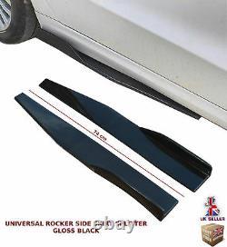 Universal Side Skirt Extension Blades Rocker Splitter 74cm Gloss Noir-frd1