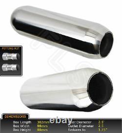 Universal Stainless Steel Exhaust Silencer Résonateur 2.5 Lmr-008-frd1