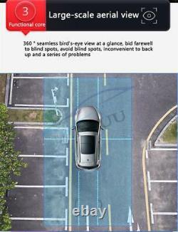 Voiture 360° 3d Panoramique Caméra Oiseaux Oiseaux Surround Vue Parking Moniteur Système Dvr