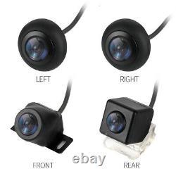 Voiture 360° Système De Surveillance Panoramique Sans Soudure 4 Caméras Étanches+capteur De Choc