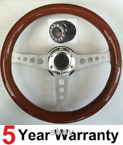 Volant En Bois Et Boss Kit Fit Ford Capri Mk1 Mk2, Cortina, Escort